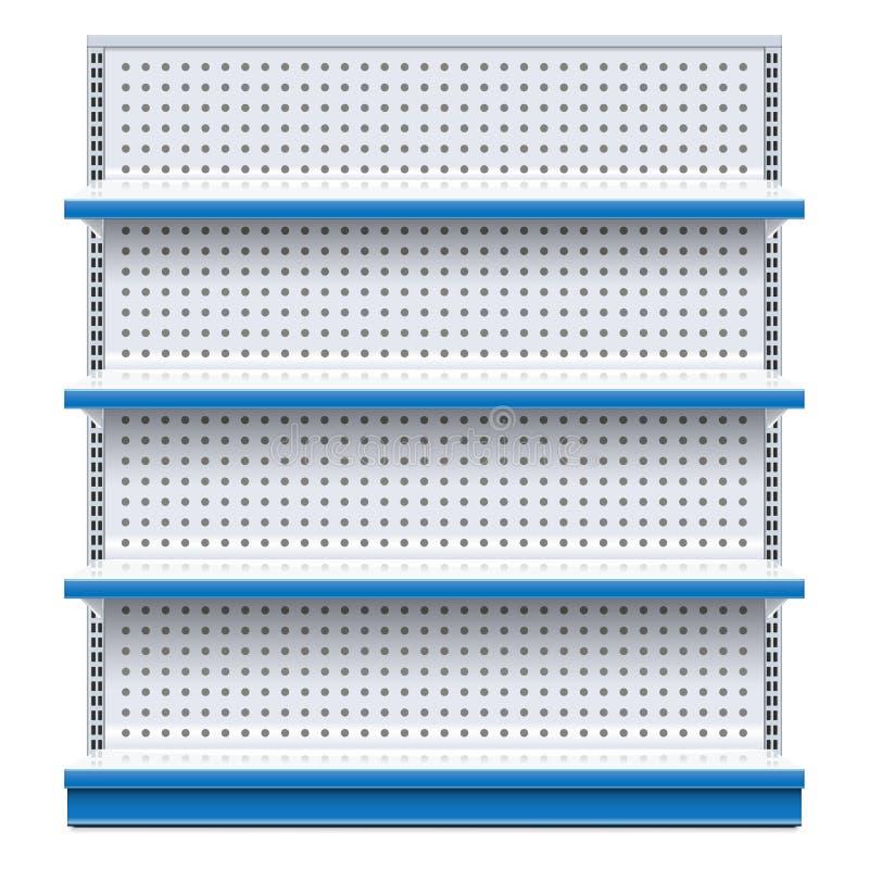 Шкаф супермаркета вектора голубой иллюстрация вектора
