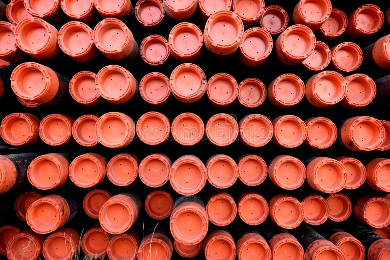 Шкаф труб металла утюга используемых для сверлить масла & газовой промышленности стоковые изображения