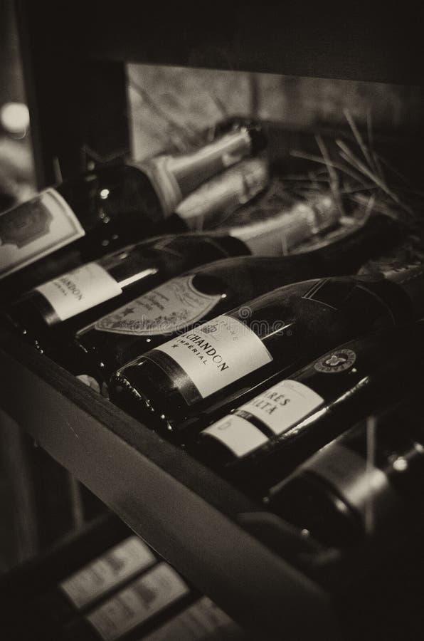 шкаф шампанского стоковая фотография rf