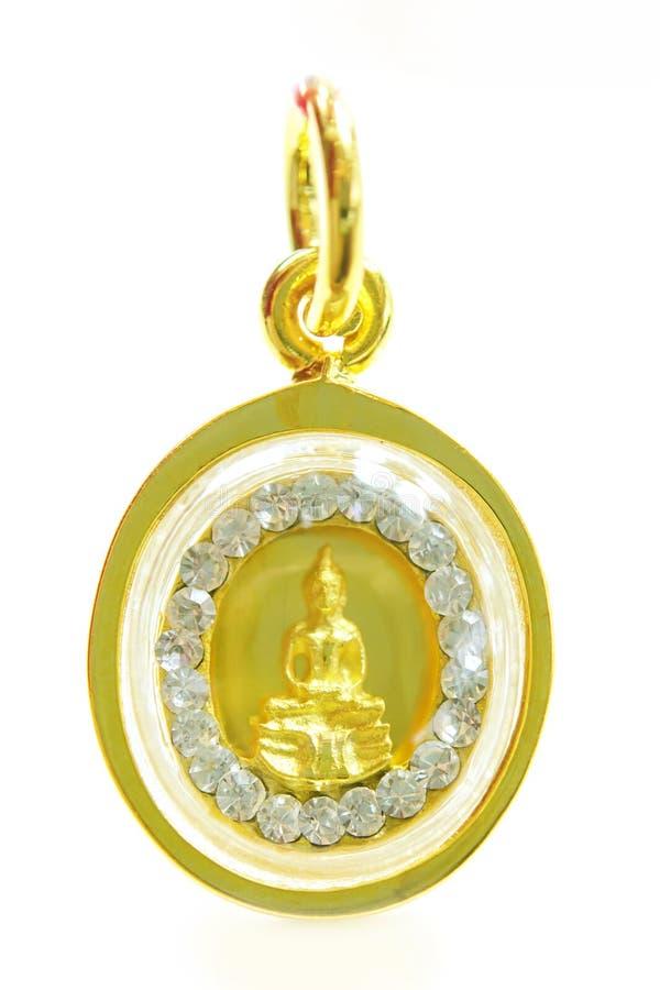 Шкентель Будды золота изолированный на белизне стоковое фото rf