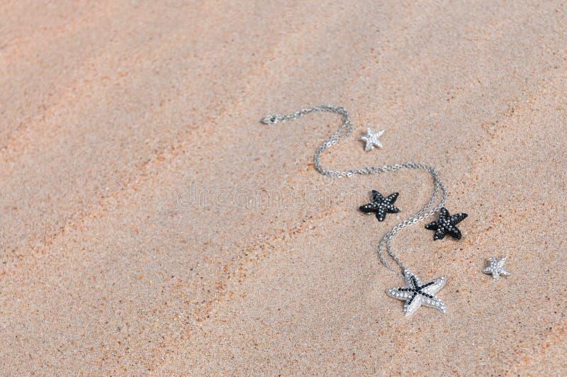 Шкентель на песке моря стоковое изображение