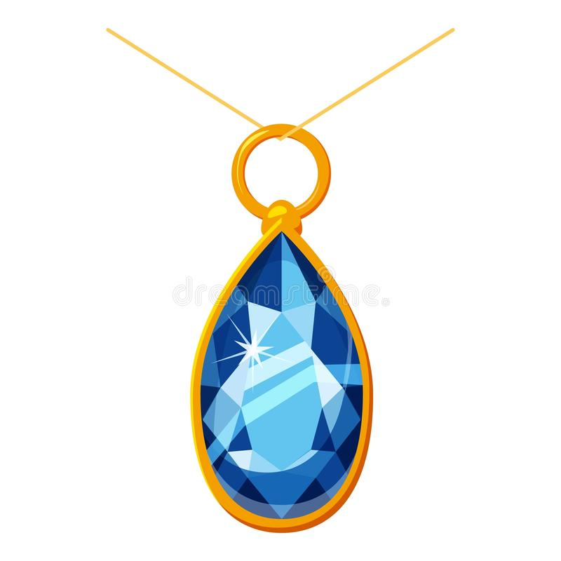 Шкентель с значком диаманта, стиль шаржа иллюстрация вектора