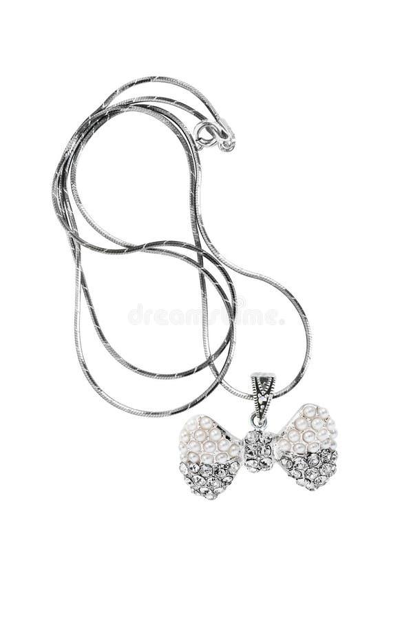 Шкентель диаманта и жемчуга стоковое изображение