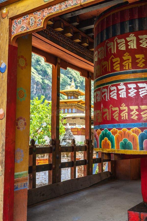 Школа буддийского вероисповедания - Chorten Kora, Бутан стоковые фотографии rf