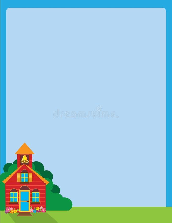 школа дома иллюстрация штока