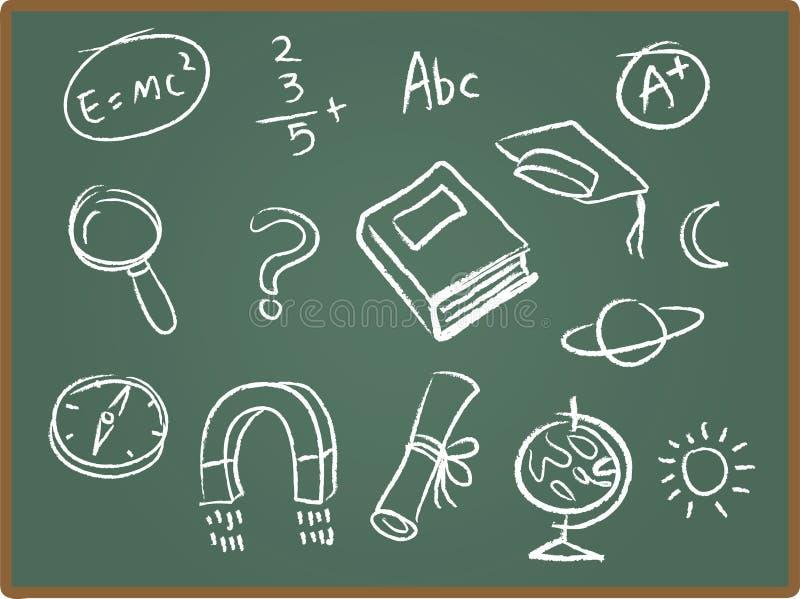 школа икон chalkboard иллюстрация штока