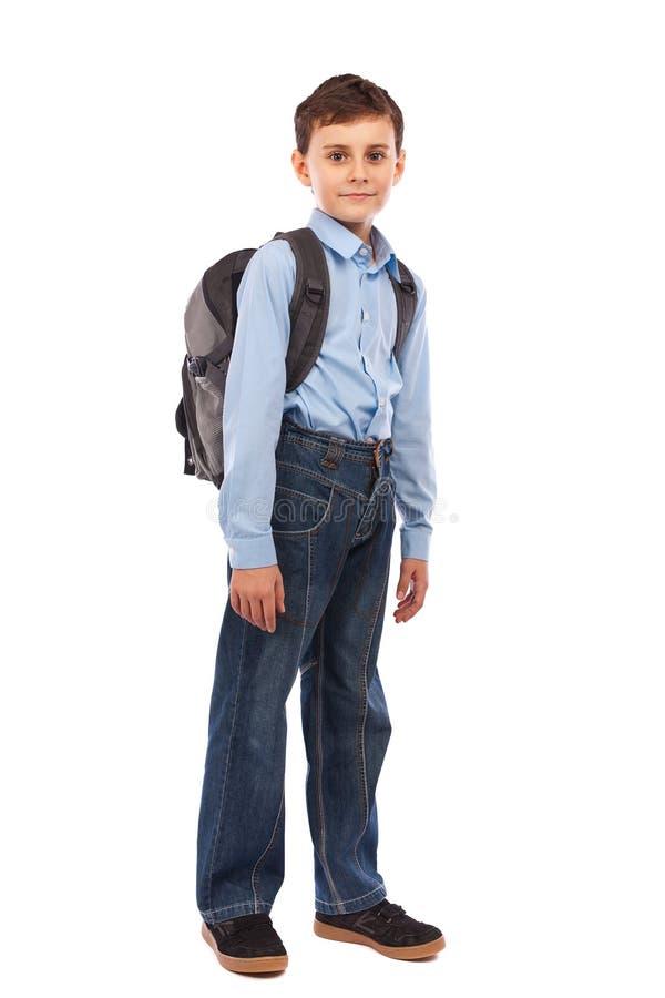 школа малыша backpack стоковая фотография rf