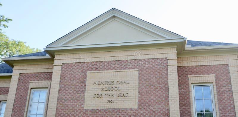 Школа Мемфиса устная для глухого стоковое изображение rf