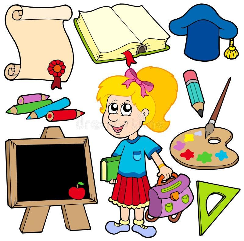 школа собрания 2 задних частей к бесплатная иллюстрация