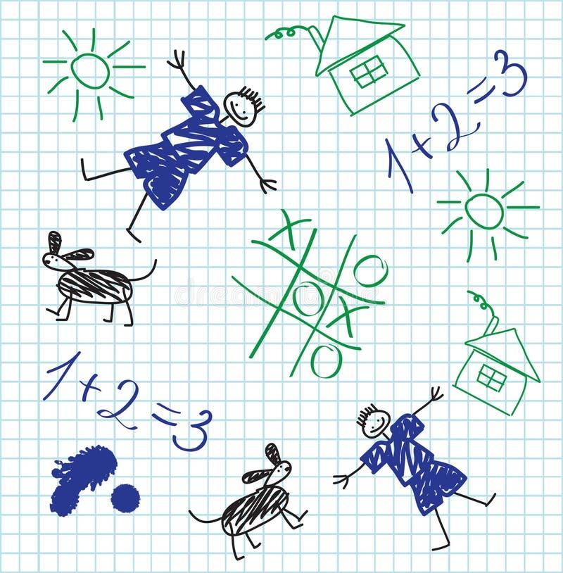 школа тетради иллюстрация вектора