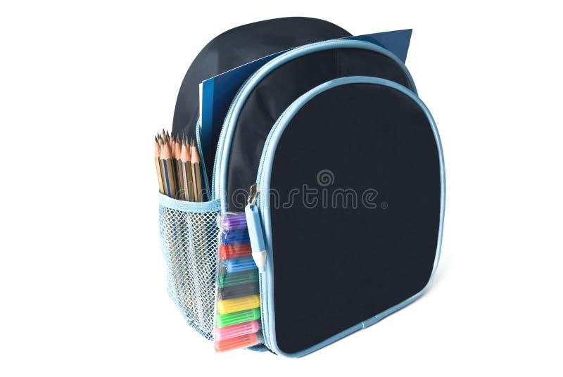 школа backpack стоковое изображение rf