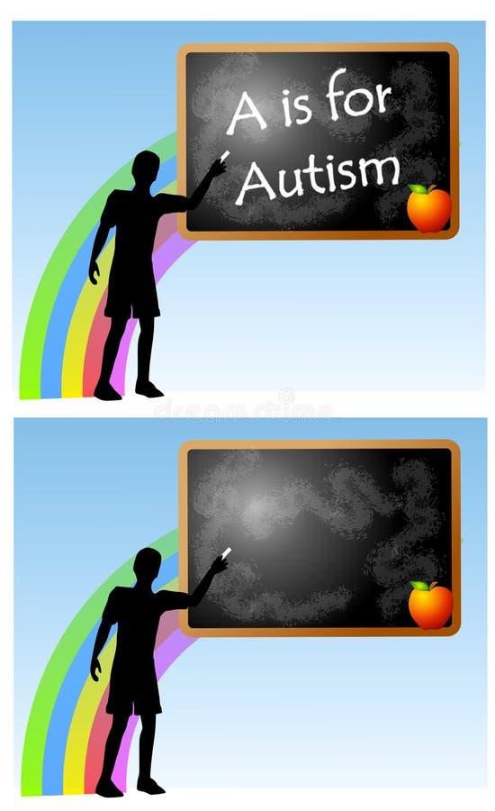 школа chalkboard аутизма иллюстрация вектора