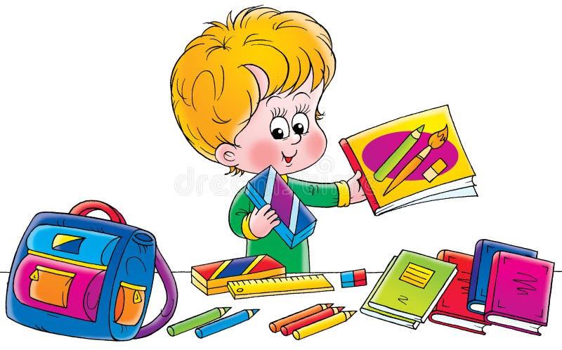 школьник иллюстрация вектора