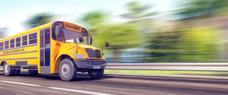 Школьный автобус второпях для начала учебного года стоковые изображения