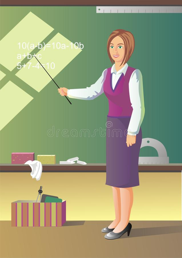 Download школьный учитель иллюстрация вектора. иллюстрации насчитывающей научьте - 18399606
