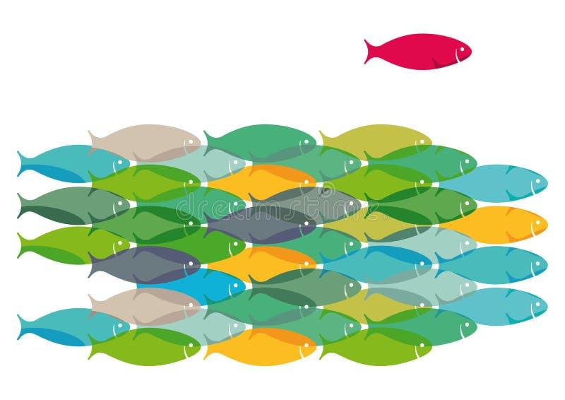 Школа дизайна рыб иллюстрация вектора