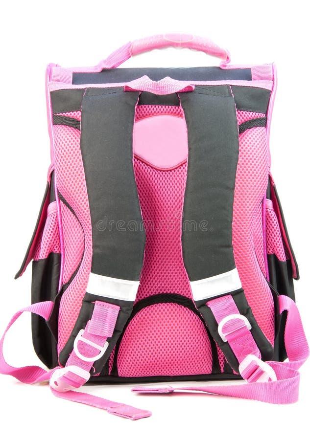 школа backpack розовая стоковые фотографии rf