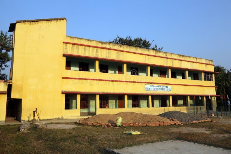Школа Gabric ставки отца мемориальная в Kumrokhali, западной Бенгалии, Индии стоковая фотография rf