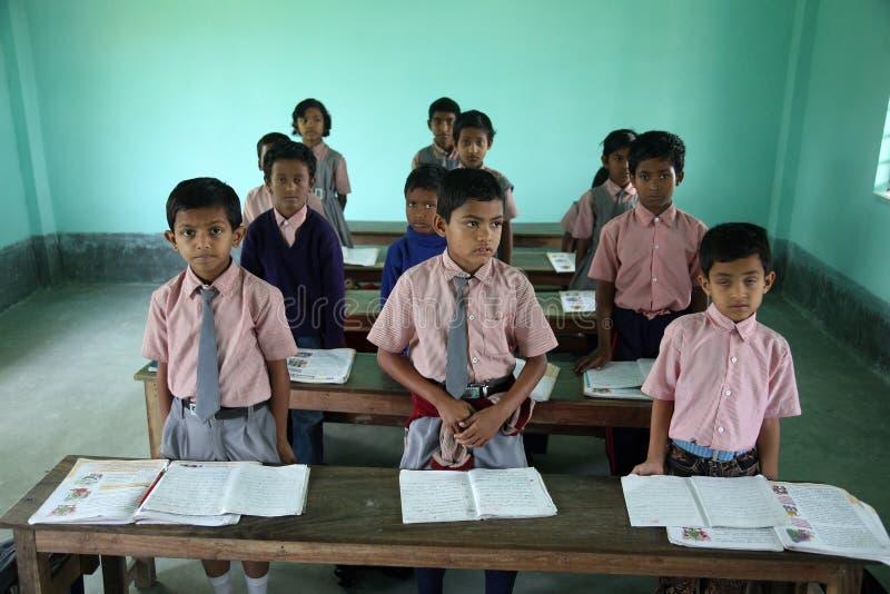 Школа Gabric ставки отца мемориальная в Kumrokhali, западной Бенгалии, Индии стоковое изображение rf