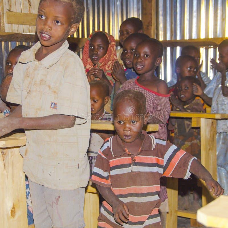 Школа Maasai стоковое фото