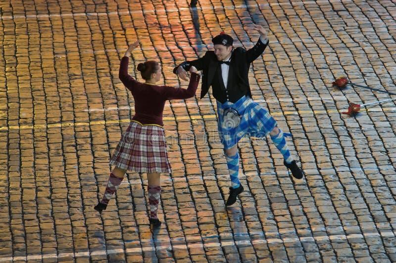 Школа Scottish танцует тенистое Глен стоковая фотография
