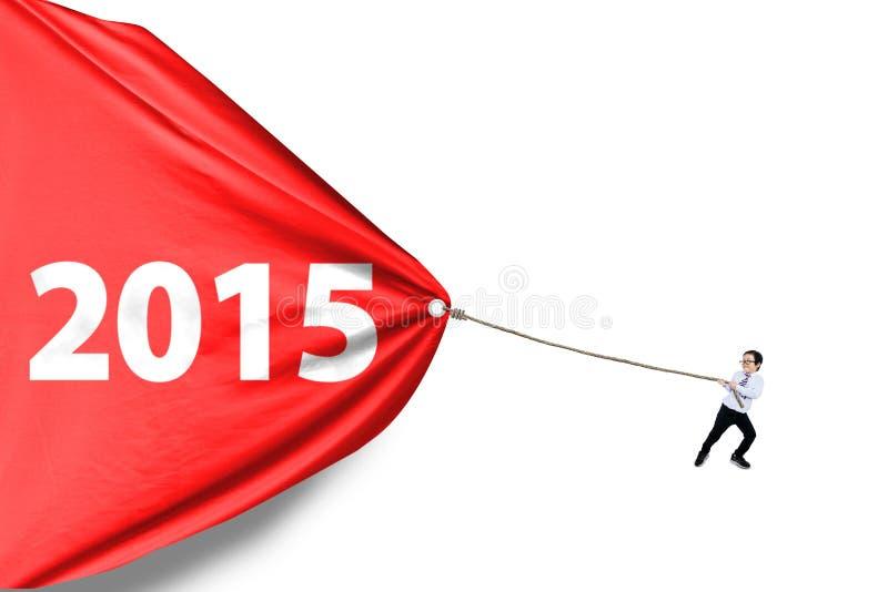 2015 школьника волоча стоковое изображение rf