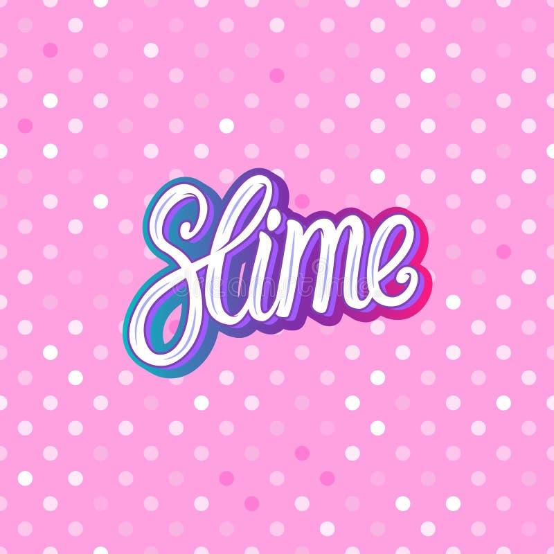 Шлам помечая буквами надпись Розовое многоточие польки картина безшовная Предпосылка текстуры иллюстрации вектора бесплатная иллюстрация