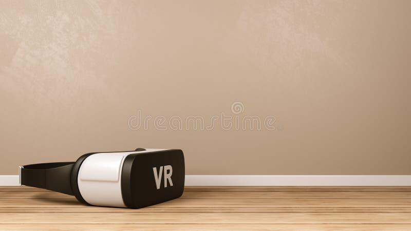 Шлемофон VR в комнате бесплатная иллюстрация