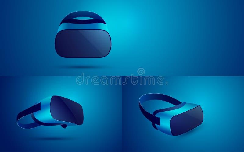 Шлемофон VR иллюстрация вектора