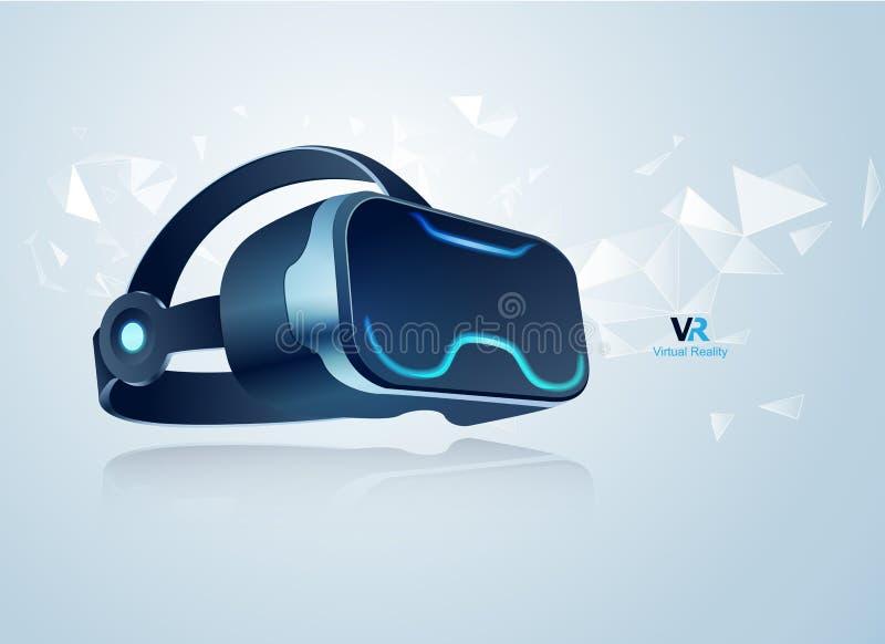 Шлемофон VR иллюстрация штока