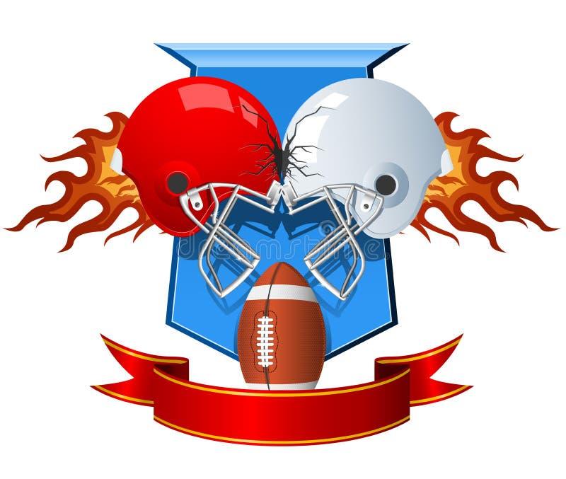 шлемы американского футбола иллюстрация штока