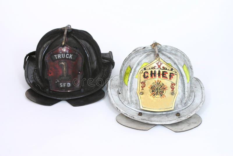шлемы пожара стоковые фотографии rf