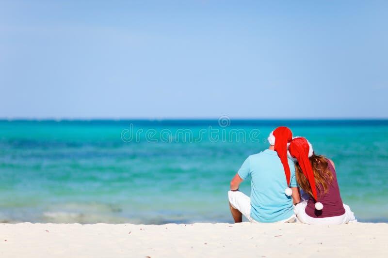 шлемы романтичный santa пар стоковая фотография rf