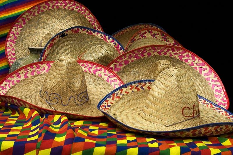шлемы собрания мексиканские стоковое фото rf