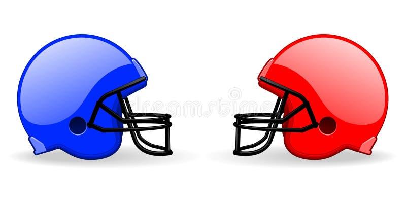 шлемы футбола иллюстрация штока