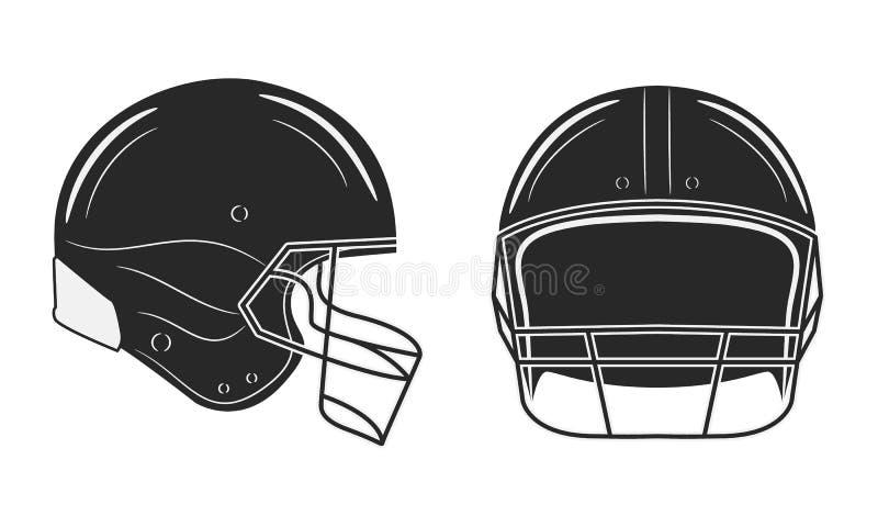 Шлем американского футбола изолированный на белой предпосылке бесплатная иллюстрация