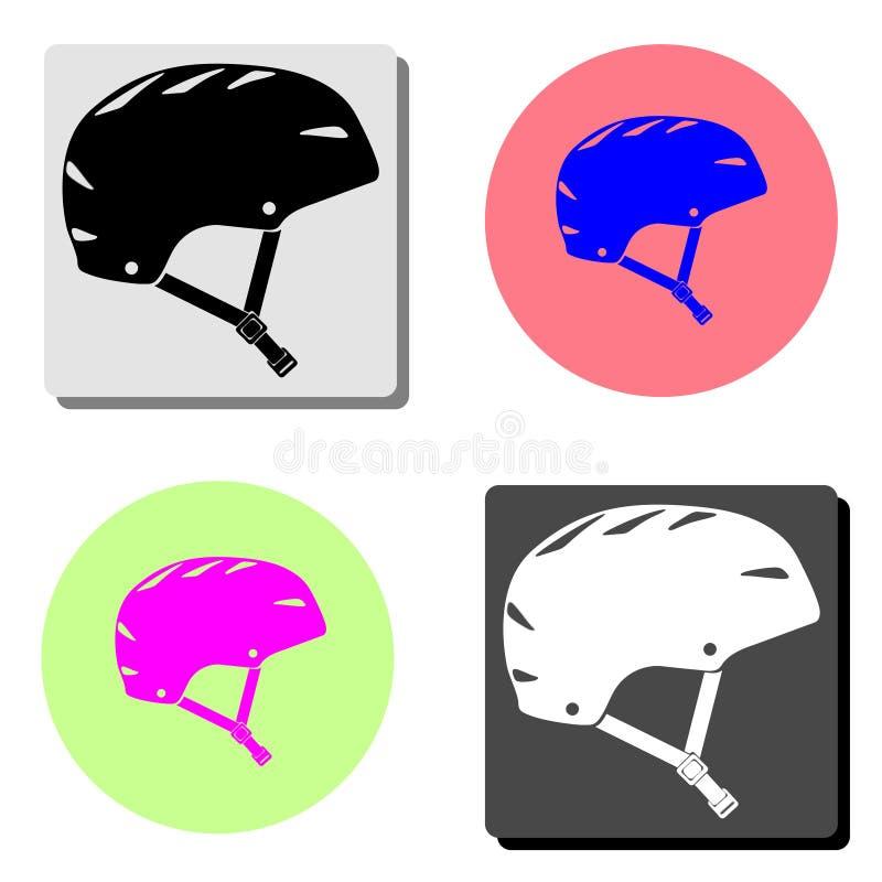 Шлем велосипеда Плоский значок вектора иллюстрация вектора