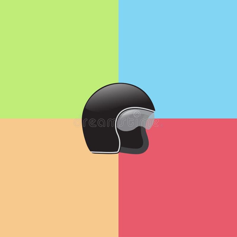 Шлем винтажного мотоцикла классический с изумленными взглядами бесплатная иллюстрация