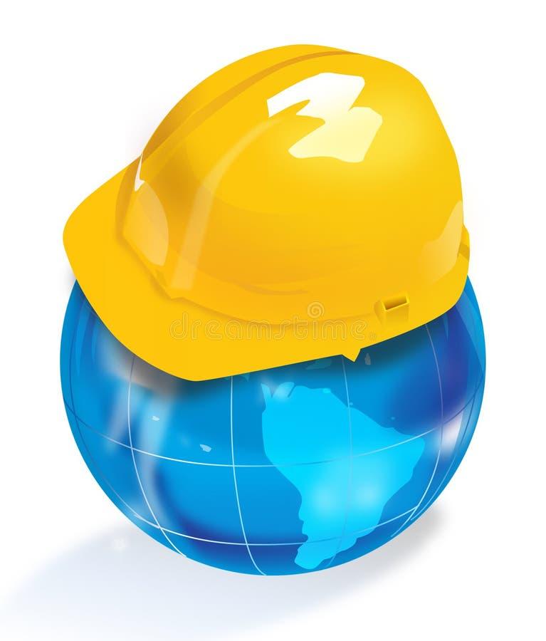 шлем глобуса иллюстрация вектора