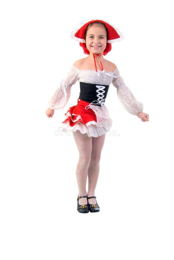шлем девушки немногая красное стоковое фото rf
