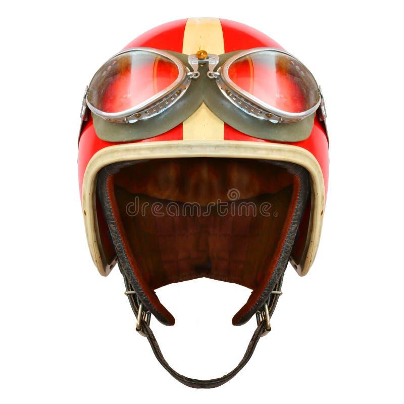 Шлем мотоцикла на белой предпосылке стоковые изображения