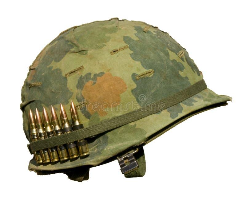 шлем мы война США против Демократической Республики Вьетнам стоковые изображения