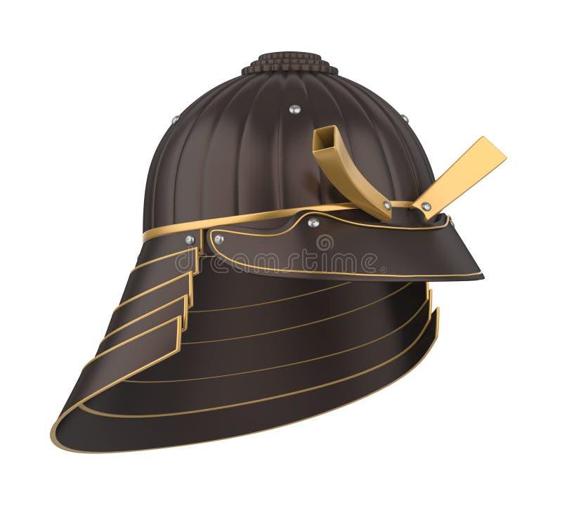 Шлем панцыря самурая Kabuto изолировал бесплатная иллюстрация
