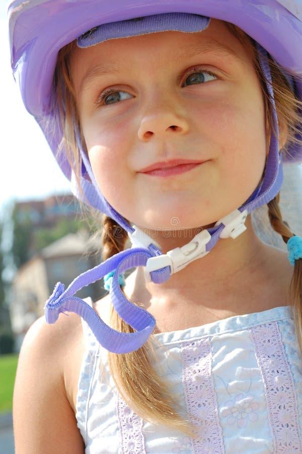 шлем ребенка стоковая фотография rf