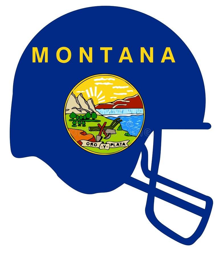 Шлем футбола национального флага Монтаны бесплатная иллюстрация