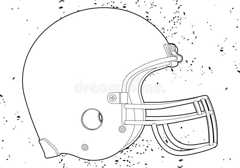 Шлем футбола иллюстрация вектора