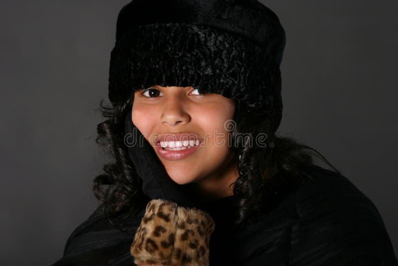 шлем latina девушки стоковое изображение