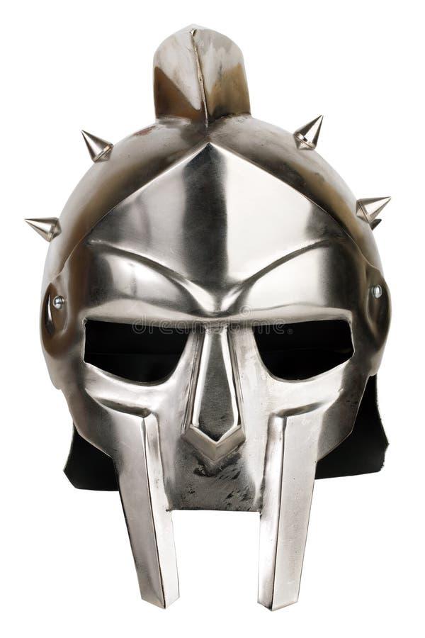 Шлем legionary утюга римский стоковое изображение rf