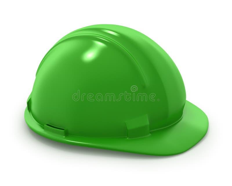 шлем s строителя зеленый иллюстрация штока