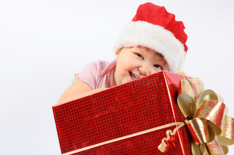 шлем s santa ребёнка стоковые фото